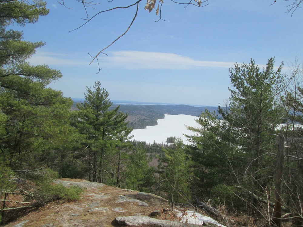 Peabody Pond from the Summit, April 2017 (Credit: Roger Brown)