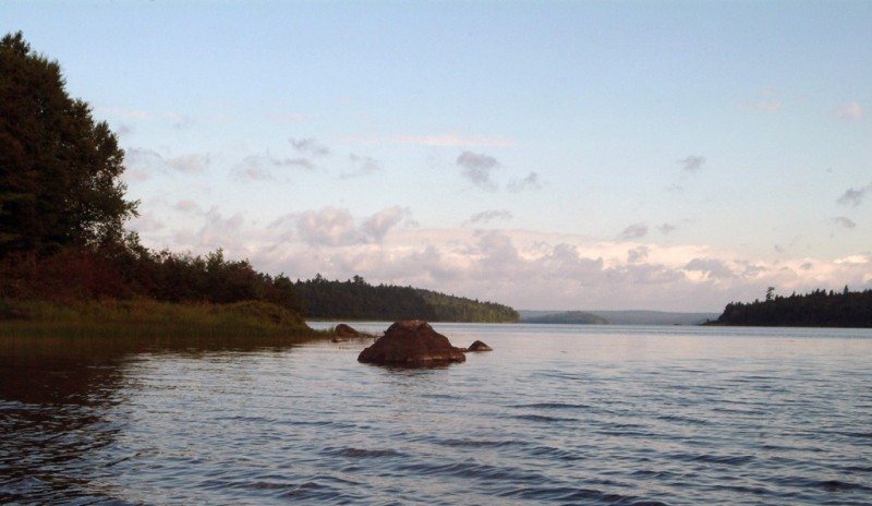 Near Pillsbury Island, Thoreau's northernmost point in his Maine journeys. This island in Eagle Lake is along one approach to the Tramway Trail. (Credit: Maine Bureau of Parks and Lands)