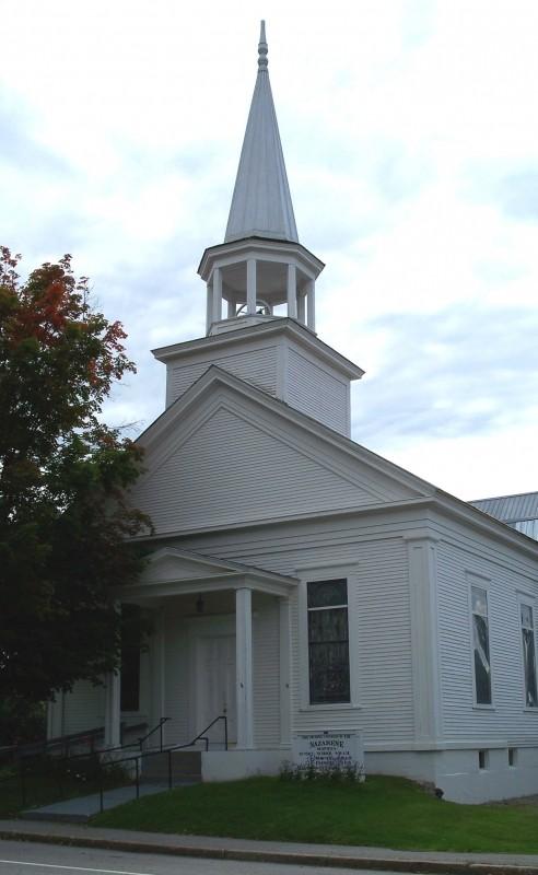 Universalist Church, 1853 (Credit: Bethel Historical Society)