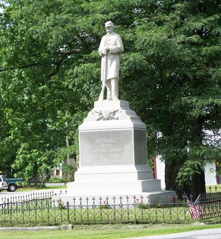Civil War Monument, 1908 (Credit: Bethel Historical Society)