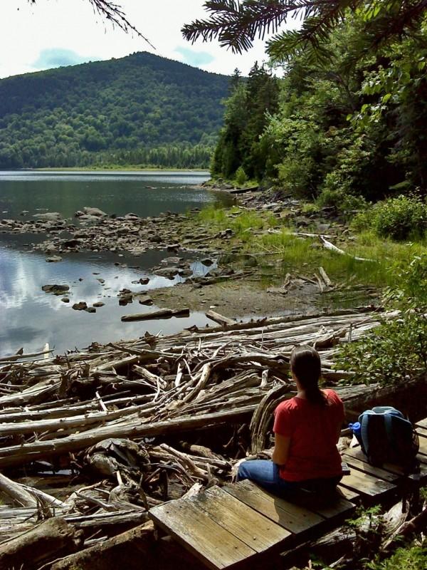 Big Moose Pond outlet (Credit: Maine Bureau of Parks and Lands)