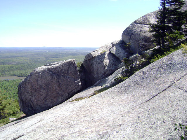 Boulders on the north side of Tunk Mountain (The Nature Conservancy owned portion of the trail) (Credit: Maine Bureau of Parks and Lands)
