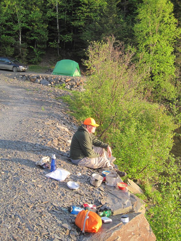 Camp at Pushineer Pond (Credit: Bill Geller)