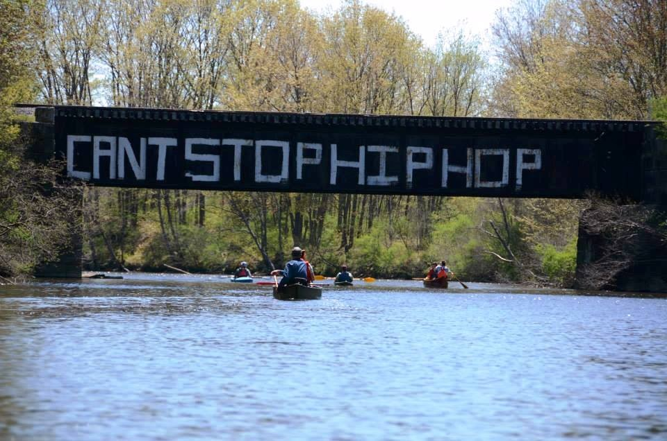 Can't Stop Hip-Hop Bridge Graffiti (Credit: Royal River Conservation Trust)