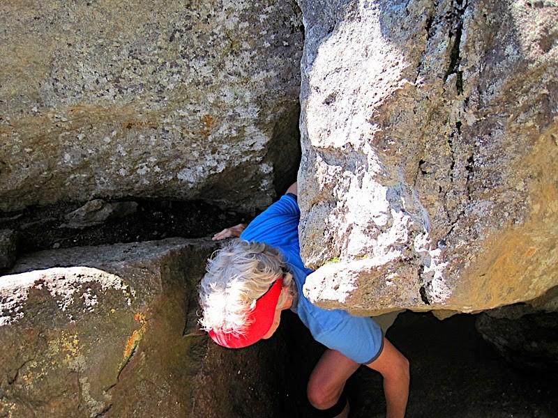 Climbing out of Fat Man's Misery (Credit: Ryan Linn)