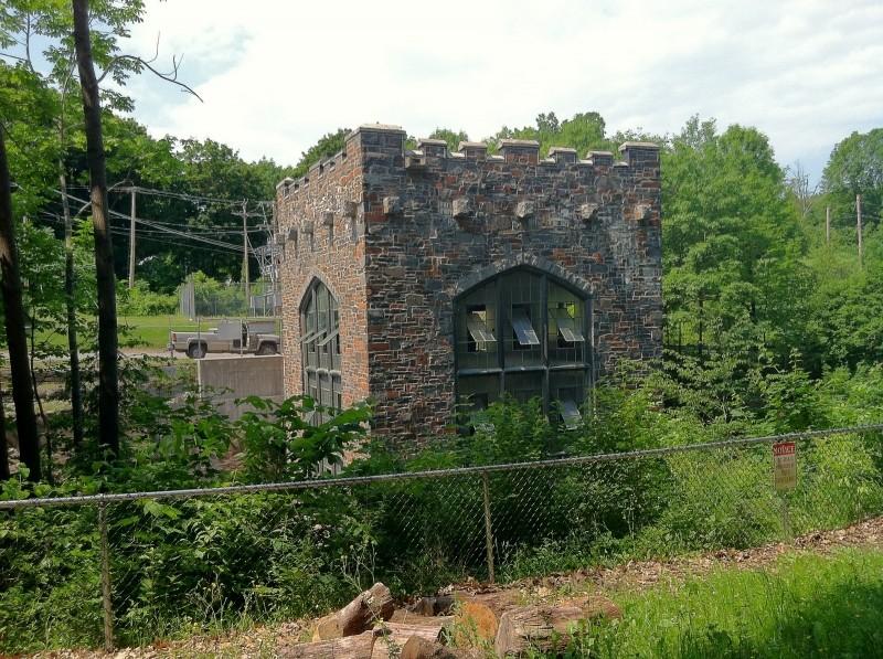 "The CMP ""castled"" hydropower station (Credit: Katie Nemmer)"