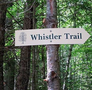 Sign for the Whistler Trail (Credit: bathforestry.com)