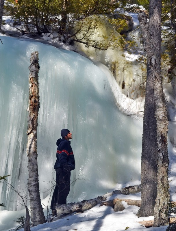 Icy cliffs next to Mud Pond (Credit: Maine Bureau of Parks and Lands)