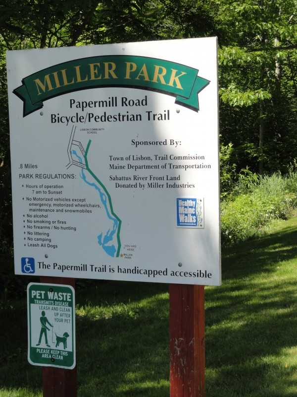 Trail Sign (Credit: Center for Community GIS)