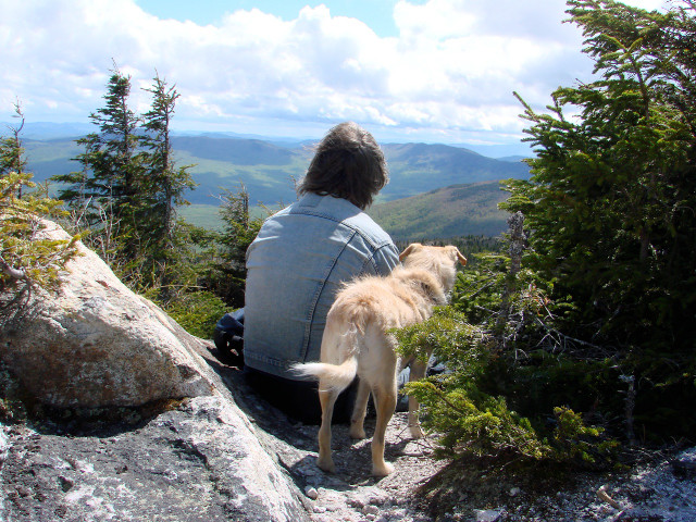 Vigorous Hike to the Summit Requires a Few Moments of Rest and Meditation (Credit: Susan Mathias)