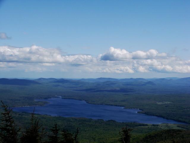 Webb Lake as seen from Blueberry Mountain's full 360-degree View (Credit: Susan Mathias)