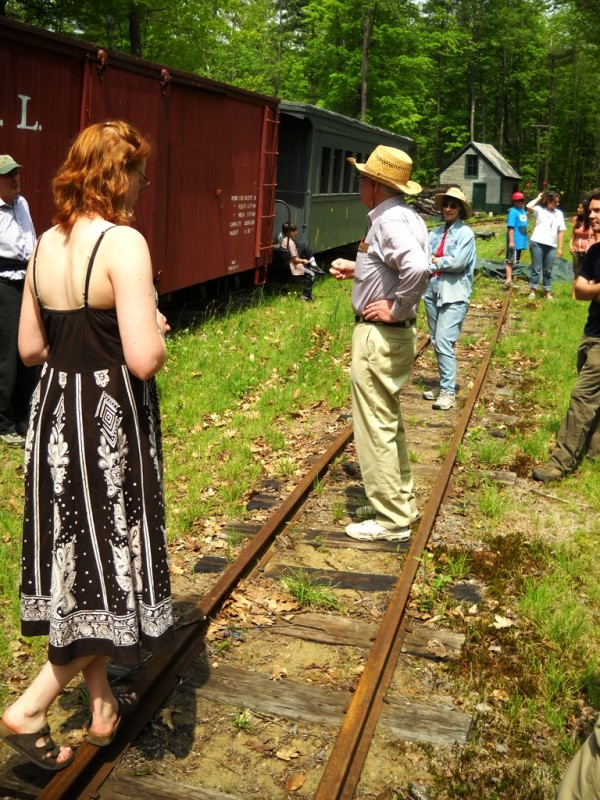 Part of the hike includes walking on the rail bed itself (Credit: Center for Community GIS)