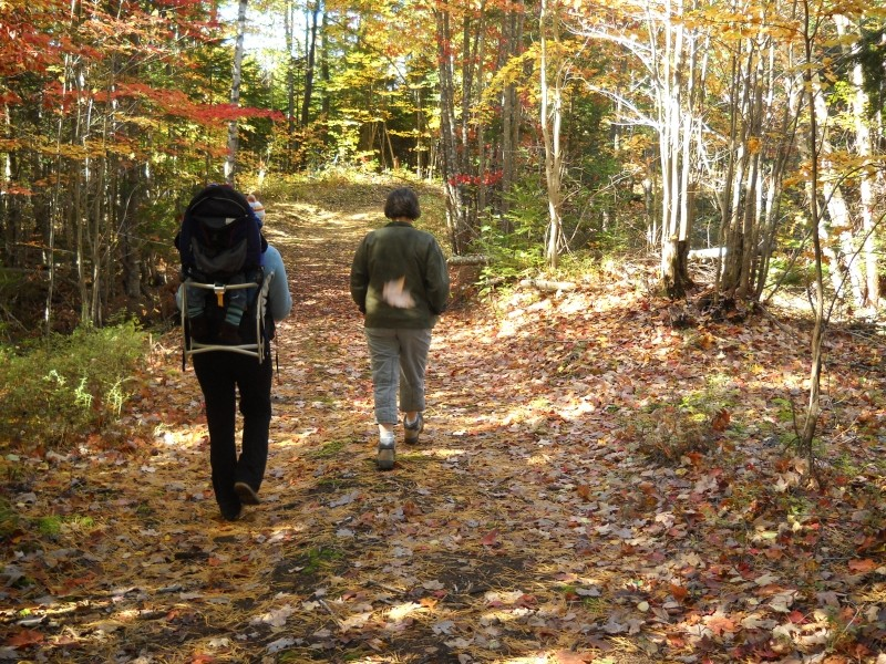 Fall hiking on the Maine Hut Trail (Credit: Center for Community GIS)