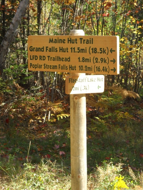 Maine Hut Trail signage (Credit: Center for Community GIS)
