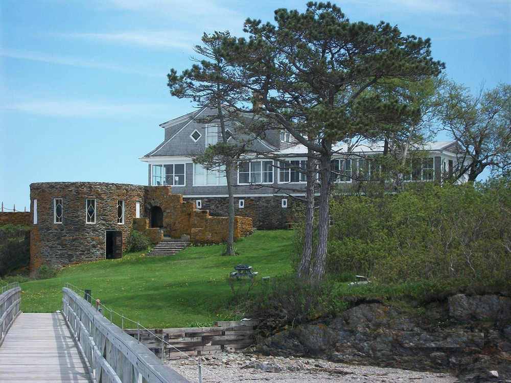 Admiral Peary's residence on Eagle Island (Credit: BPL)