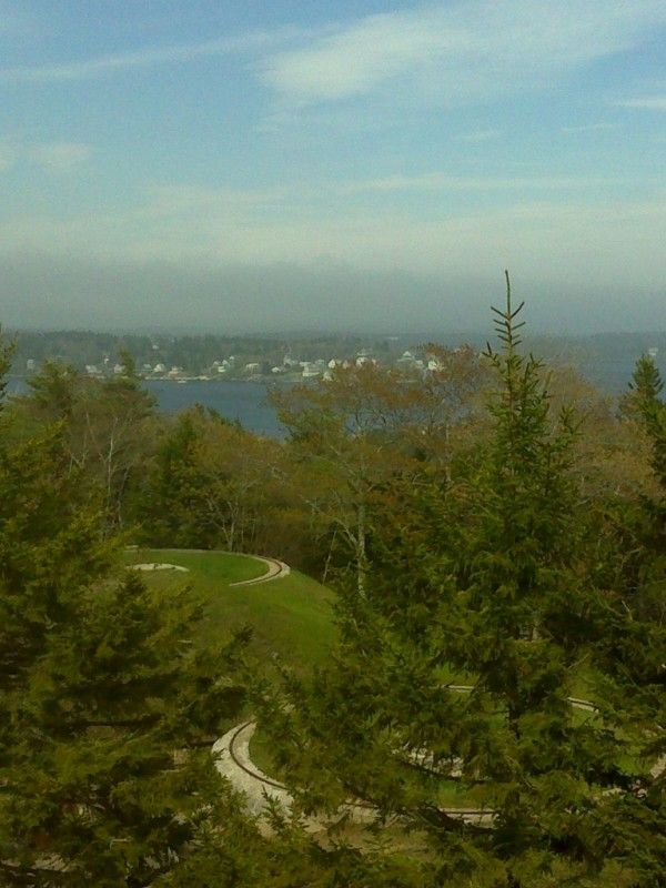 The view from the tower at Fort Baldwin (Credit: Maine Bureau of Parks and Lands)
