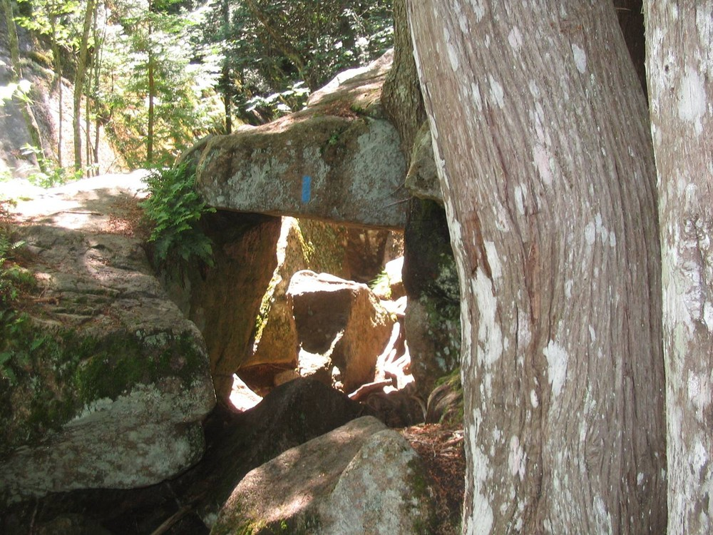 Giant Slide under Trail (Credit: National Park Service)