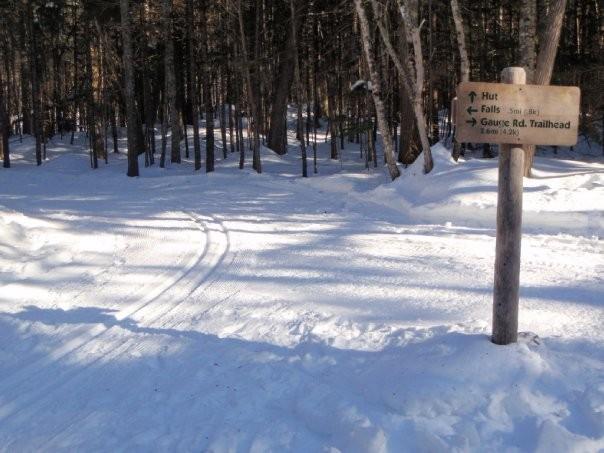 Groomed ski trail near Poplar Hut (Credit: Maine Huts & Trails)