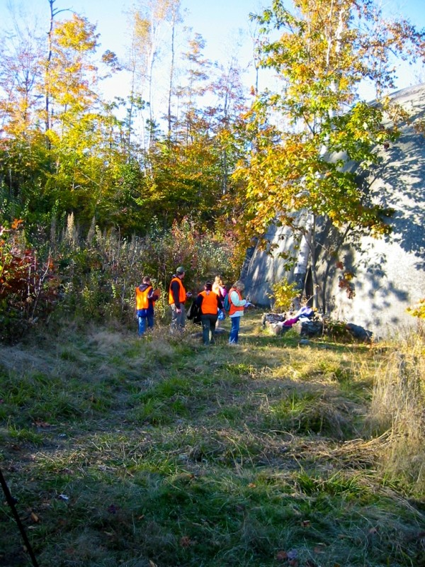 After School Adventure Club from Phillips Hunts for Geocaches around Daggett Rock (Credit: Healthy Community Coalition)