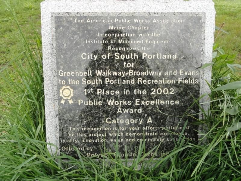Granite dedication monument (Credit: Center for Community GIS)