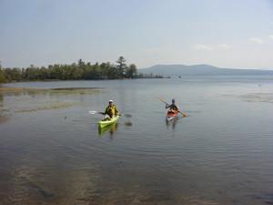 Kayakers on Lake Umbagog (Credit: Tom Meridith/USFWS)