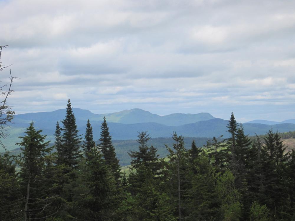 Looking towards Big Jackson, Little Jackson, and Tumbledown Mountains (Credit: Joel Alex)