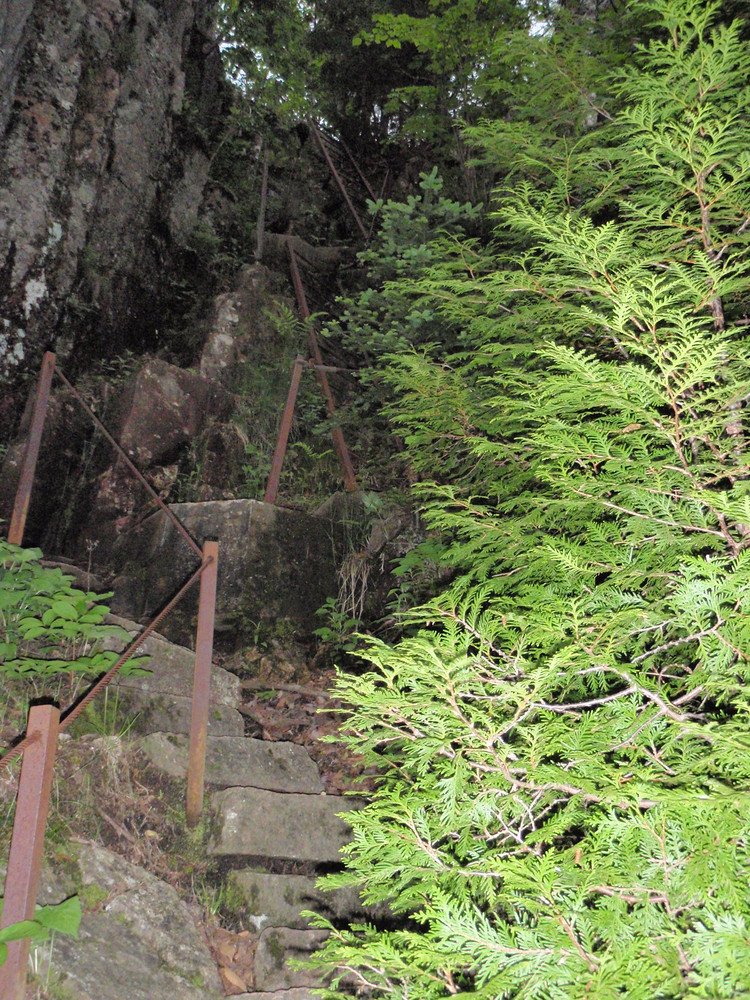 Iron Ladders in Cliff Section (Credit: National Park Service)