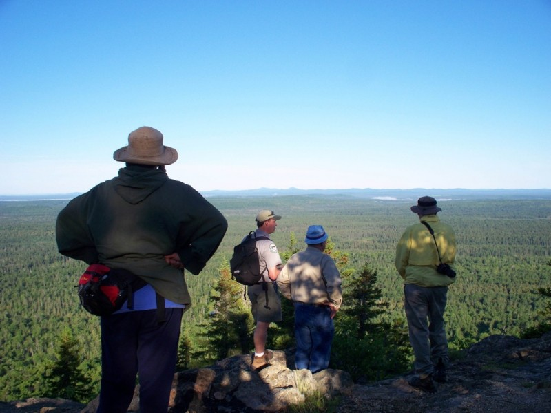 Hikers on the summit (Credit: Maine Division of Parks and Public Lands)
