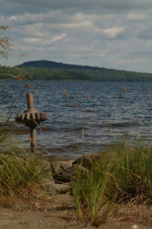 View of the Eagle Lake shoreline near the Tramway Trail (Credit: Maine Bureau of Parks and Lands)