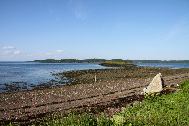 Looking over Passamaquoddy Bay to Deer Island in New Brunswick (Credit: Vera Francis)