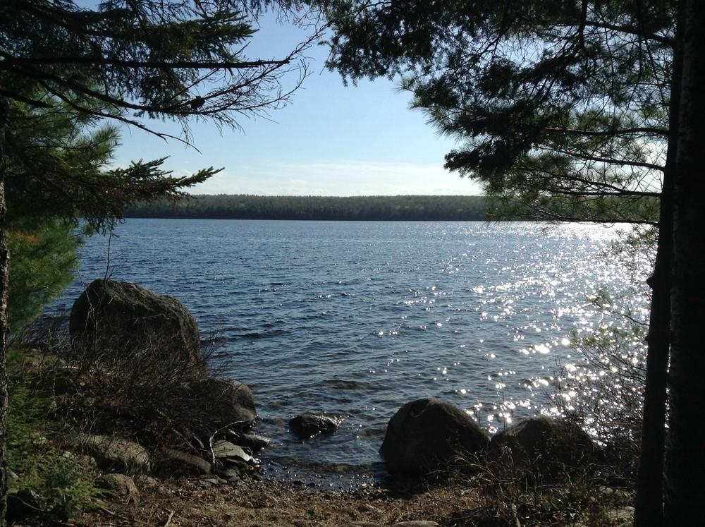 Canoe Landing on Branch Lake (Credit: Center for Community GIS)