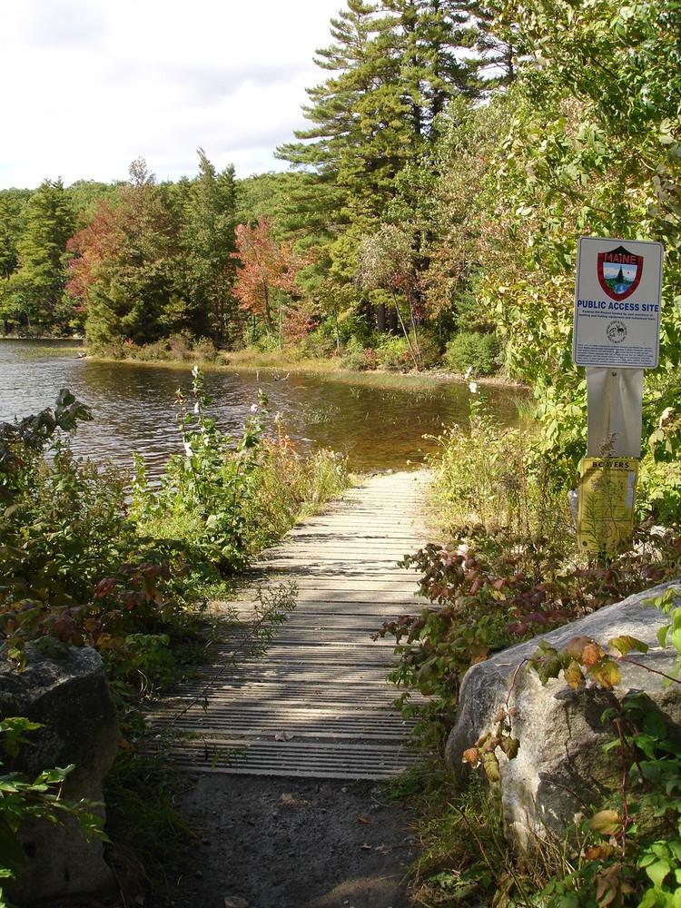 Trail Alongside Jamies Pond (Credit: ME Department of Inland Fisheries/Wildlife)