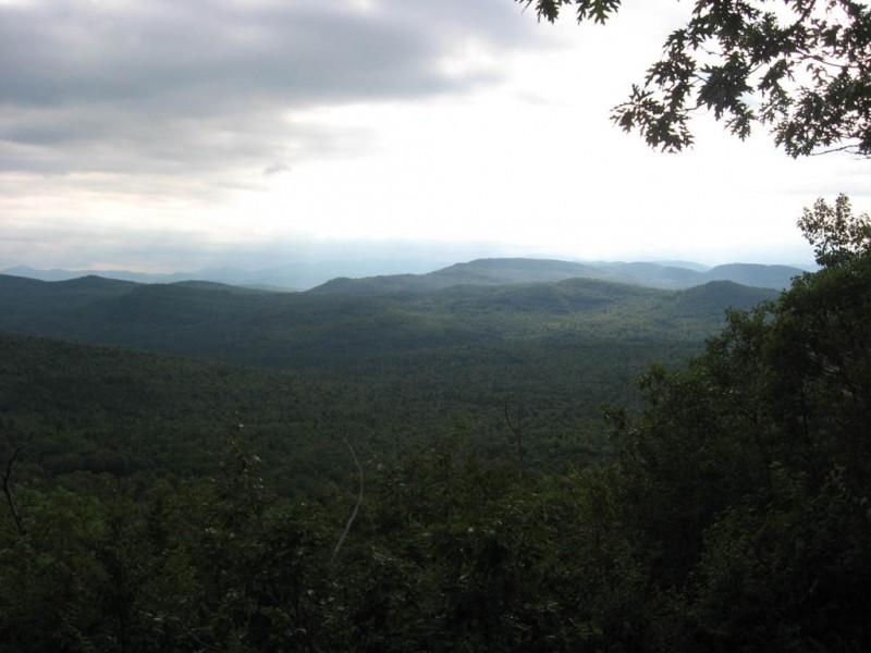 Rain over the White Mountains (Credit: Landon Fake)