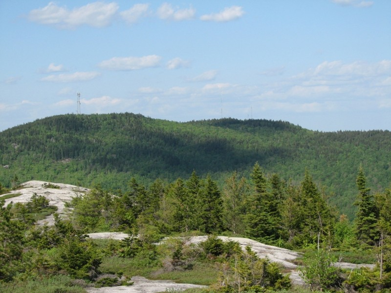 Black Mountain in Rumford from the summit (Credit: Center for Community GIS)