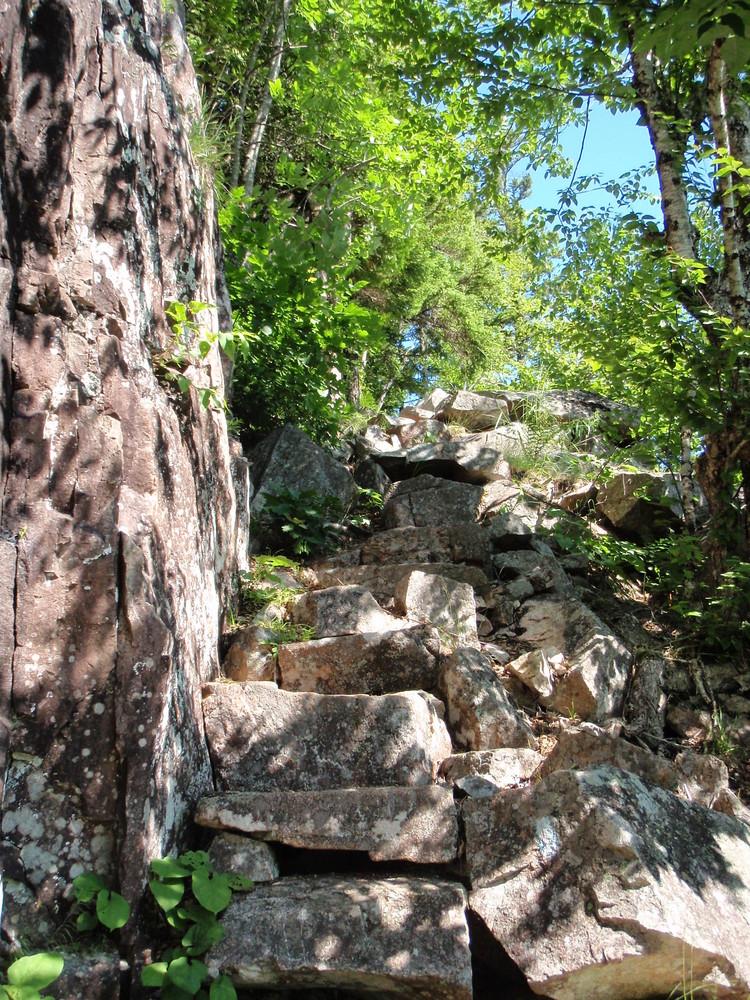 Stairs along Jordan Cliff (Credit: National Park Service)
