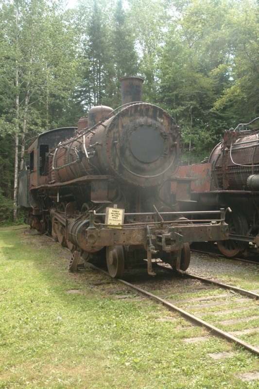 Locomotives from Eagle Lake and West Branch Railroad (Credit: Maine Bureau of Parks and Lands)