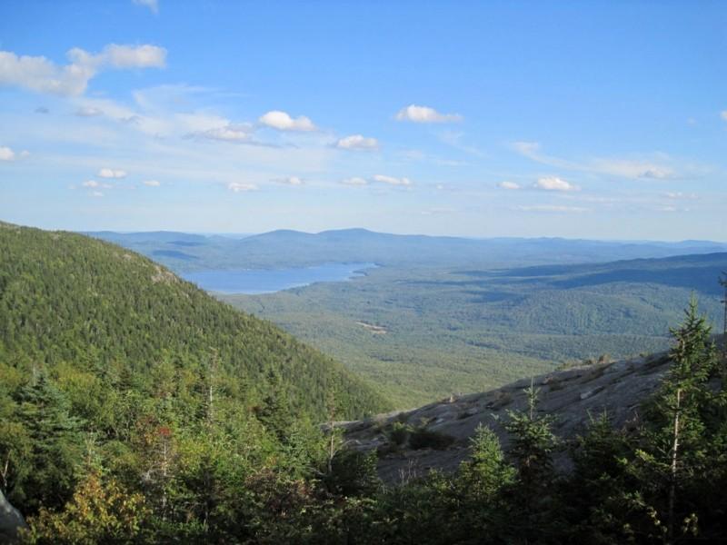 Webb Lake seen from the West Peak of Tumbledown Mountain (Credit: Lorri Brown)