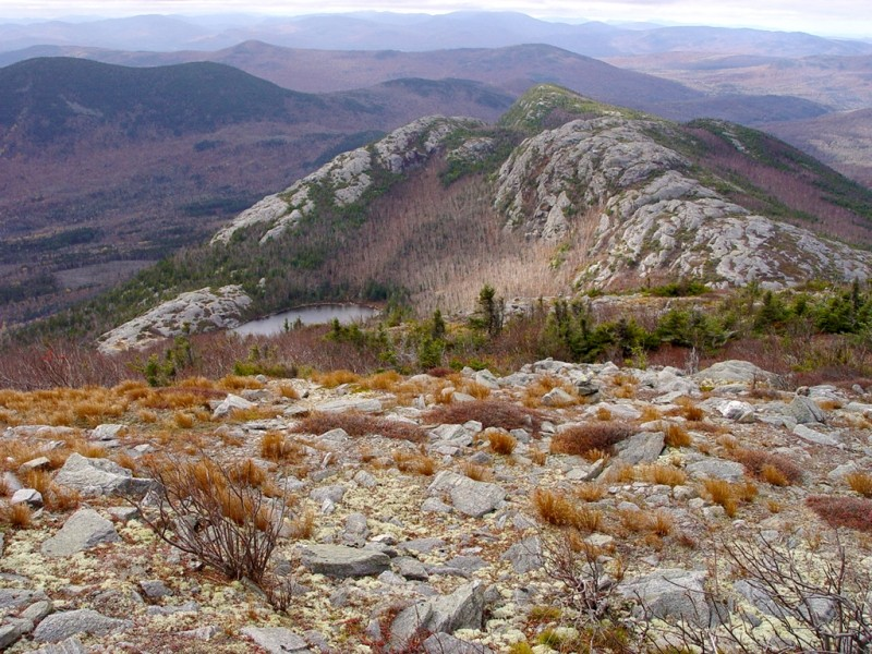North Peak and Pond of Tumbledown (Credit: Maine Bureau of Parks and Lands)