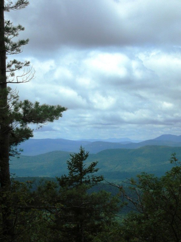 View looking west from the summit (Credit: White Mountain National Forest)