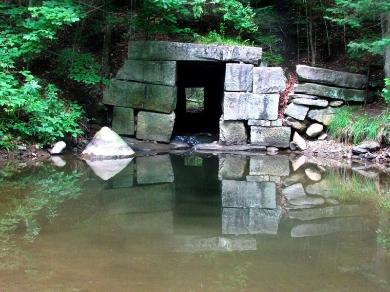 Near North Jay, several granite culverts serve as reminders of the nearby quarries (Credit: Ross Donihue)
