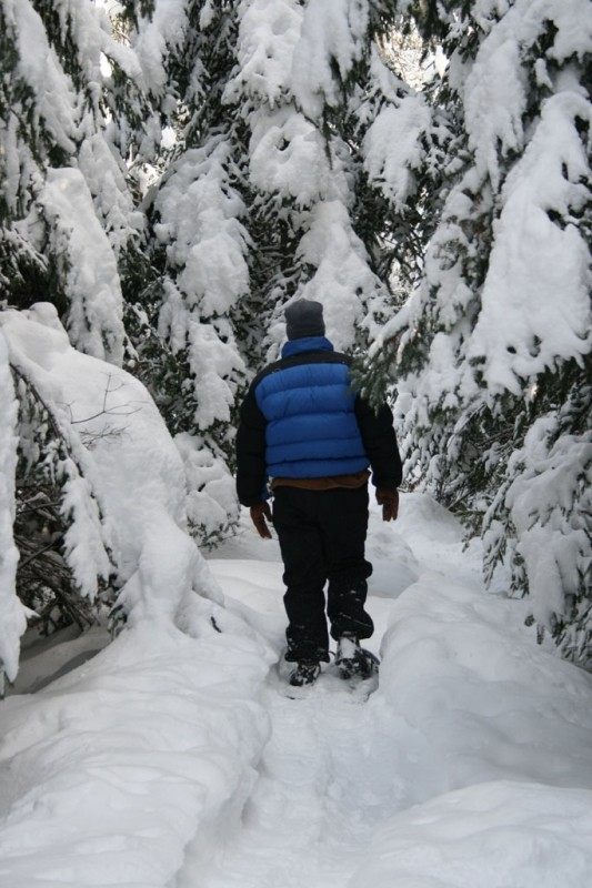 """Hiking on snowshoes in a """"Winter Wonder Land"""" (Credit: Shelby Rousseau)"""