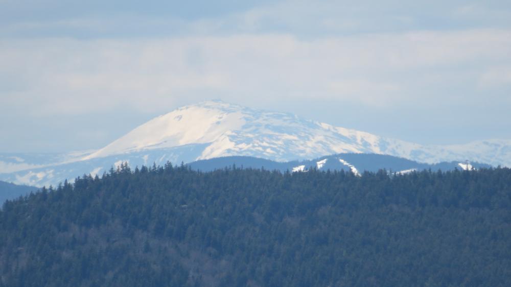 Mt Washington from Rumford Whitecap ... early May (Credit: steve winter ... telephoto)