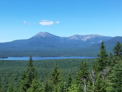 Unobstructed view of Katahdin and Katahdin Lake (Credit: Steve Lyons)