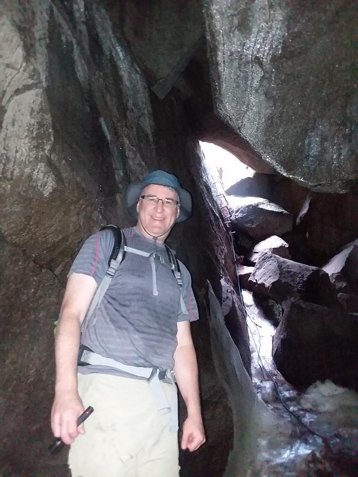 Inside the ice cave (Credit: Ashton Lyons)
