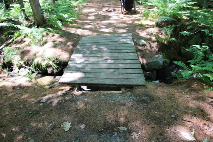 Entrance to a bridge on the Willet Brook Trail (Credit: Enock Glidden)