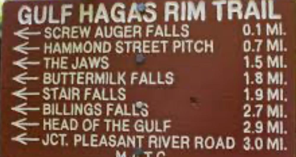 Gulf Hagas trail sign (Credit: MainelySyl)
