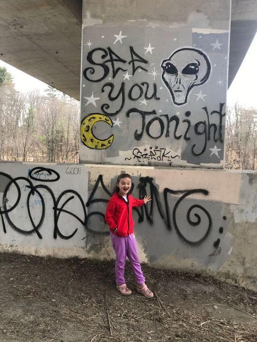 Graffiti under the bridge (Credit: Jennifer Frey)