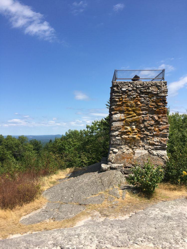 Stone tower on Douglas Mtn Summit (Credit: Courtney Sargent)