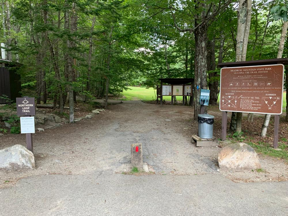 Trail access from main parking lot