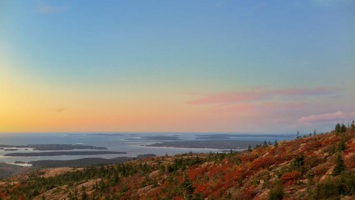 Looking South over the Cranberry Isles (Credit: Hope Rowan)
